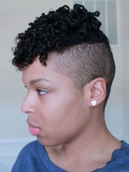 short natural hairstyles when shaved on one side and in back 20 natural hairstyles for short hair