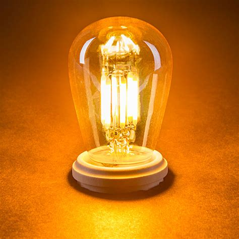 led vintage light bulb s14 led sign bulb w gold tint