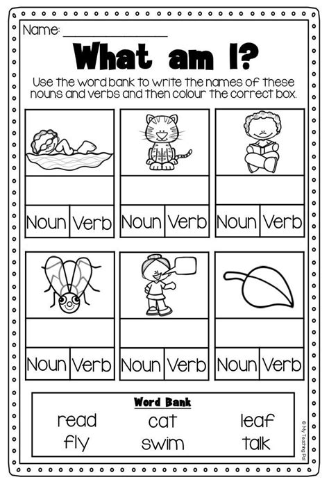 Noun And Verb Worksheet by 86 Best Noun Verb Activities Images On