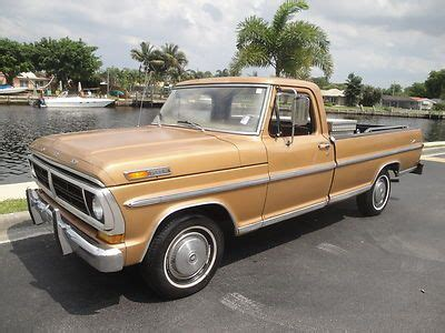 sell new no reserve 73 ford f100 pu 360 ci 3spd great project vehicle runs dont miss in