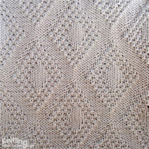 knit stitches patterns moss bordered diamonds knitting stitch patterns
