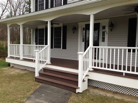 Front Porch Deck by Manchester Nh Front Porch Is Complete Allen Remodeling