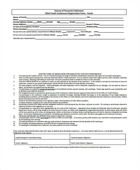 youth conference registration form template 23 conference registration form templates