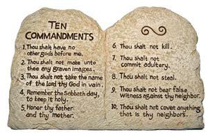 Les 10 commandments du marriage humoristique avec