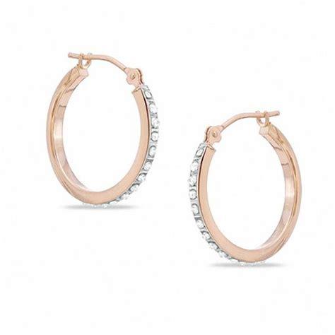 fascination hoop earrings in 14k gold