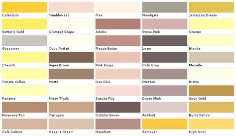 home depot wall paint colors home depot yellow exterior paint swatch palette