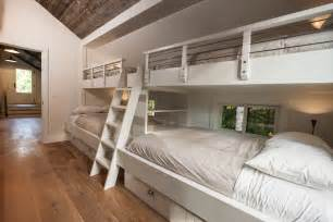 Bunk Room Floor Plans full over full bunk beds with stairs kids transitional