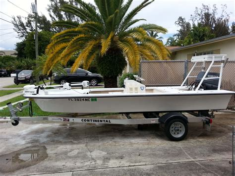 skull island flats boat for sale 2003 16 mitzi skiff 09 50 hp yamaha 2 stroke recently