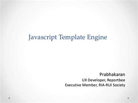 javascript template engine javascript template engine getting started