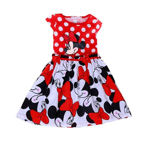 Casual Mickey Dress Bt30 minnie dress sleeveless baby s casual dots dresses mickey mouse