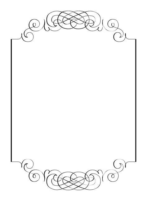 free printable picture frame templates free vintage clip images calligraphic frames and