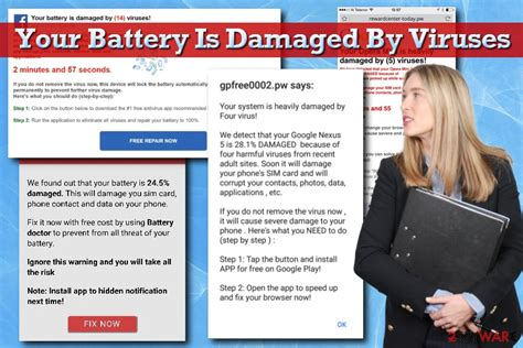 Virus Your Battery Has Been Damaged   a virus is damaging your battery remove your battery is