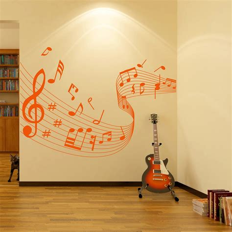 Baby Room Wall Sticker musical note score wall stickers music wall art