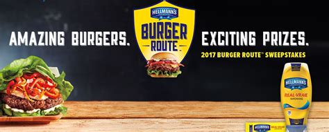 Sweepstakes Route - hellmanns burger route contest 2017 win grills cameras and more