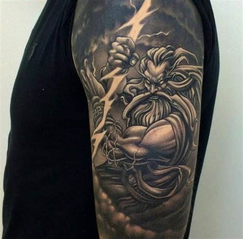 zeus thunder god tattoo ideas tattoo designs