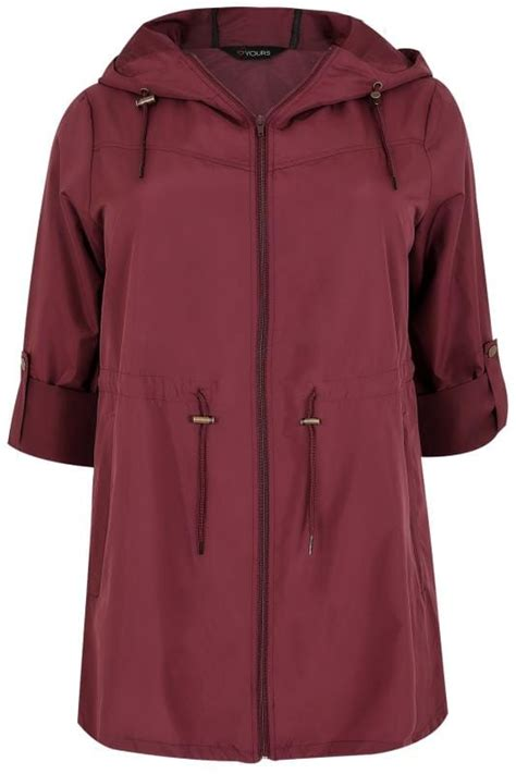 Supplier Pocket Parka By Adieva burgundy pocket parka jacket with plus size 16 to 36
