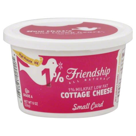 low cottage cheese 1 cup lowfat cottage cheese friendship dairies 1 milkfat
