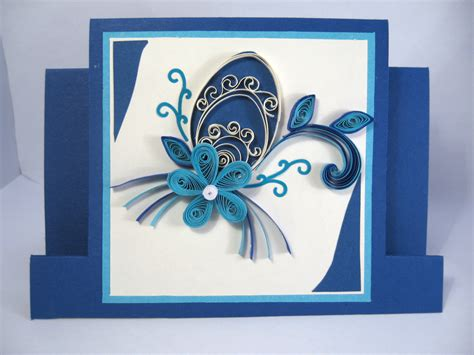 Paper Greeting Cards - easter card paper handmade greeting card quilling easter