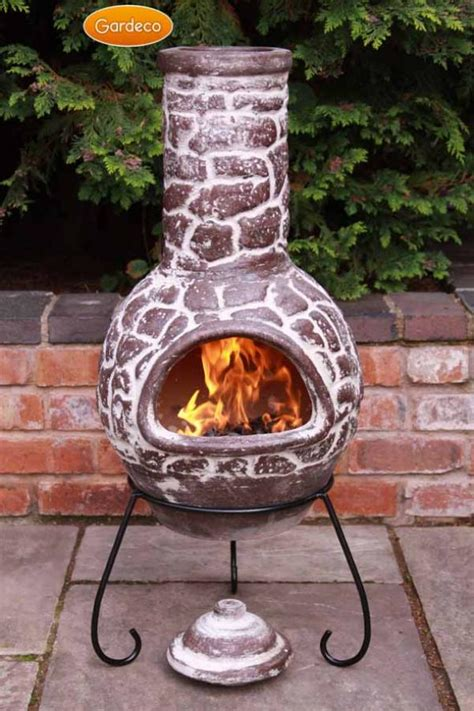 Outdoor Heating Chiminea Gardeco Large Cantera Mexican Chiminea Lid Stand