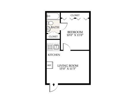 1 bed 1 bath floor plans penningroth apartments iowa city iowa
