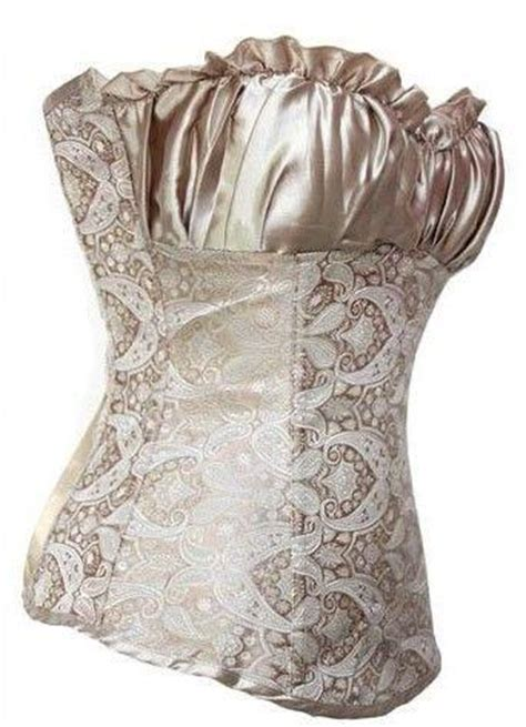 Bustier Import 2 a2m bauchweg vollbrust corsage korsage mieder bustier korsett corset beige ebay