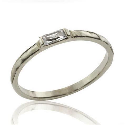 wedding band baguette ring unique