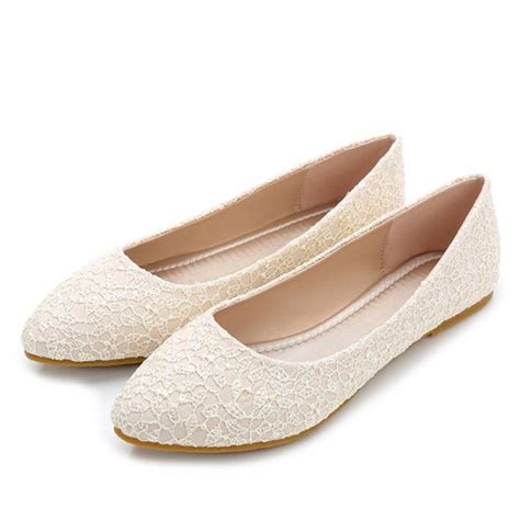 Is Lace Comfortable by S Beige Wedding Shoes Floral Lace Comfortable Bridal