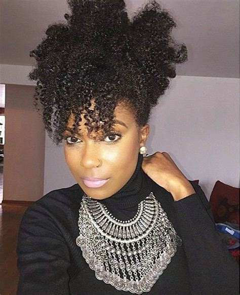 small afro puff buns hair pieces african afro puff clip in jet black kinky curly brazilian