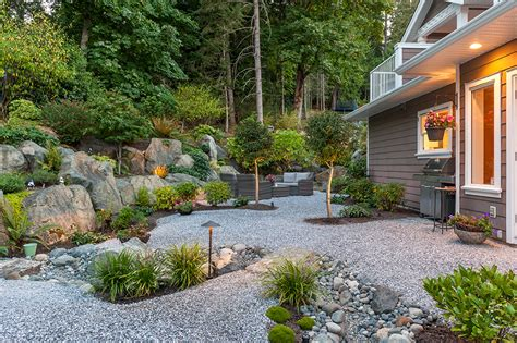 xeriscaped backyard design xeriscaped landscape design modern home victoria