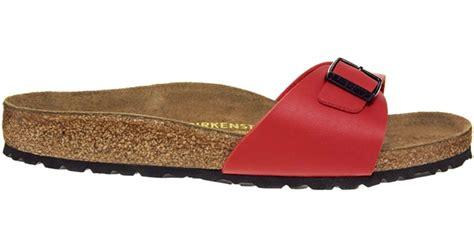 Birkenstock Madrid Cherry Original birkenstock cherry madrid flat sandals in lyst