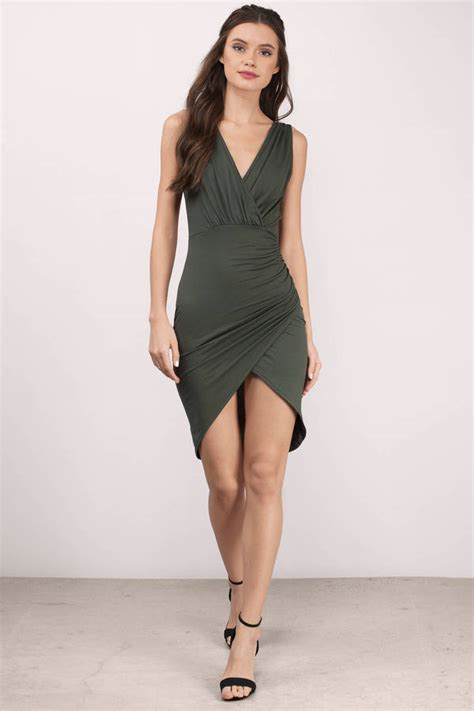 V Neck Wrap Dress v neck dress low cut dress plunging neckline dress