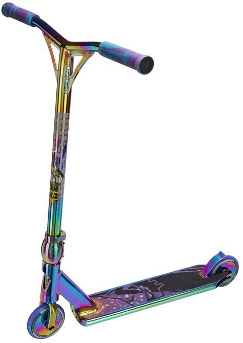 rainbow chrome rainbow neo chrome stunt scooter team dogz pro 4 x gen