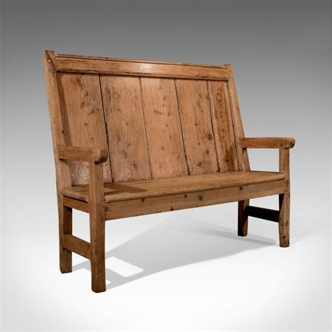 bench tavern antique victorian pine settle hall bench tavern country