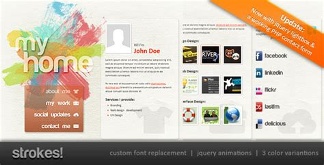 Strokes Personal Website Template By Abogawat Themeforest Personal Business Website Templates
