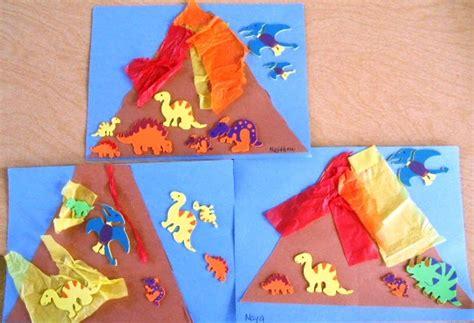 volcano craft for preschool playbook erupting volcanoes