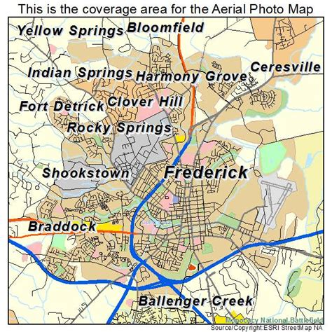 maryland map frederick county aerial photography map of frederick md maryland