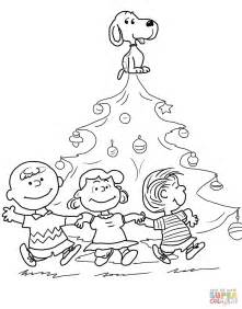 charlie brown christmas tree coloring free printable coloring pages