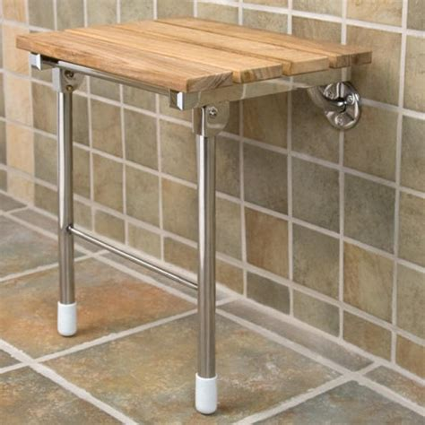 Bathroom Shower Seats Teak Folding Shower Seat With Legs Shower Seats Bathroom Accessories Bathroom