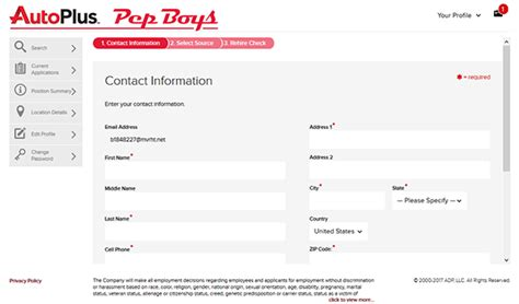 pep boys application apply