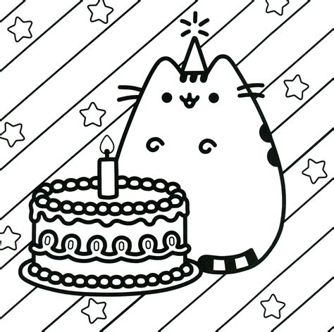 happy birthday sofia coloring pages pusheen coloring book pusheen pusheen the cat color your
