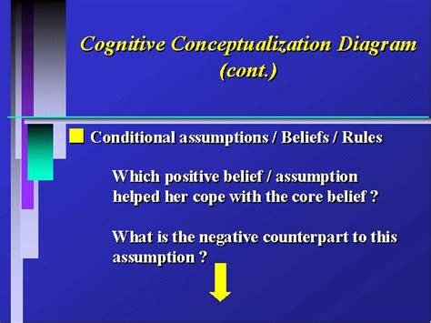 cognitive conceptualization diagram cognitive conceptualization diagram cont