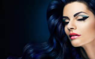 model make up trend 2014 dark blue hair women ombre hd