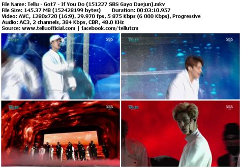 perf got7 if you do 151227 sbs gayo daejun tellu s