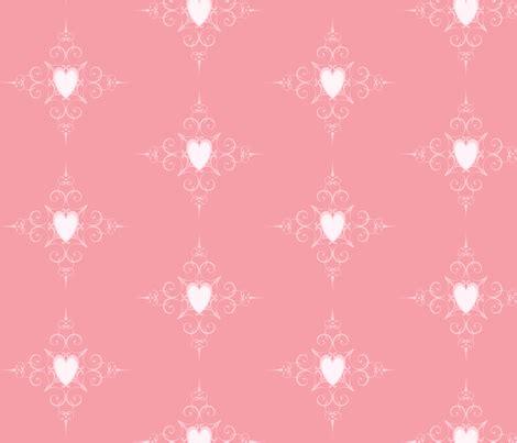 pink heart pattern fabric jenfur spoonflower
