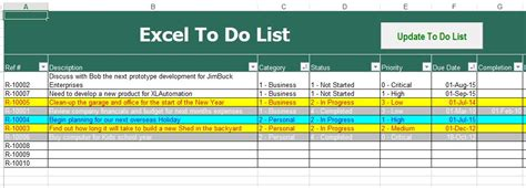 Things To Do List Template Excel by To Do List Excel Template To Do List Template