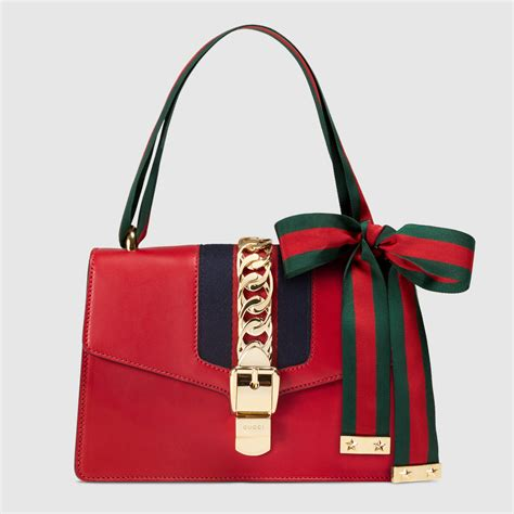 Gucci Bags by Sylvie Leather Shoulder Bag Gucci S Shoulder Bags