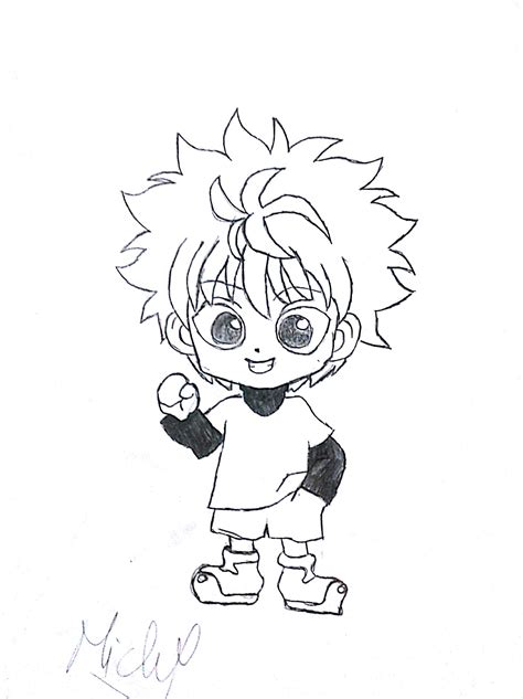hunter x hunter black and white wallpaper killua chibi hunter x hunter by michelpf13 on deviantart