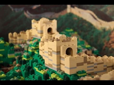 Modern Marvels Great Wall Of China by Lego Great Wall Of China Brick Wonders