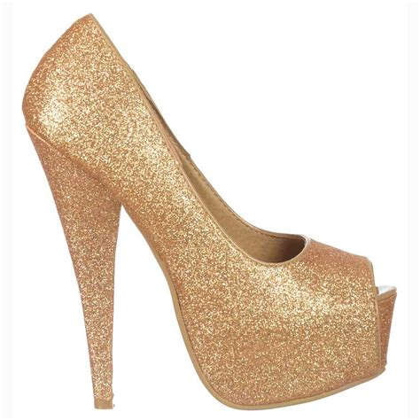 gold peep toe high heels shoekandi gold sparkly glitter peep toe stiletto concealed