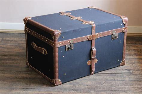 Black Trunk Coffee Table Bespoke Black Millerain And Leather Trunk Coffee Table Leather Trunks Luggage